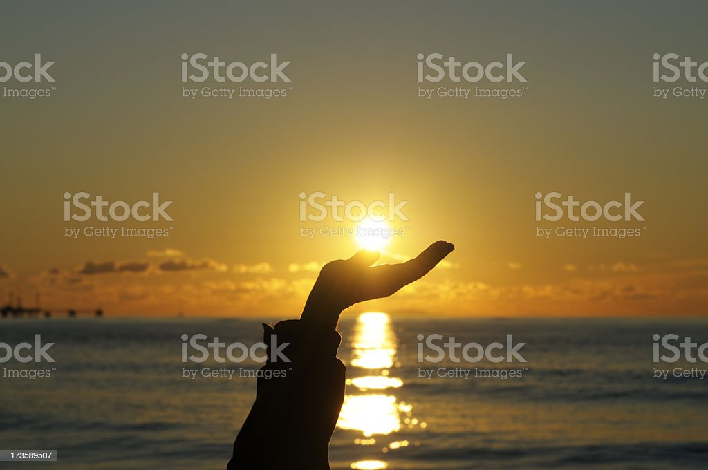 Sun in the Hand royalty-free stock photo