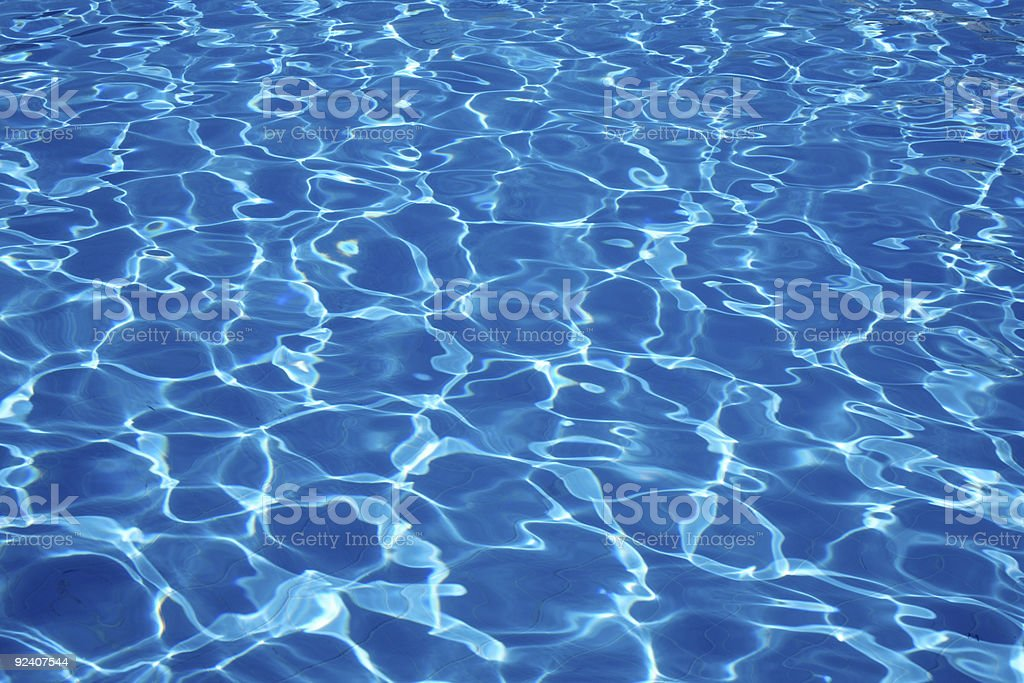 Sun is dancing and reflecting off the ripples in the water stock photo