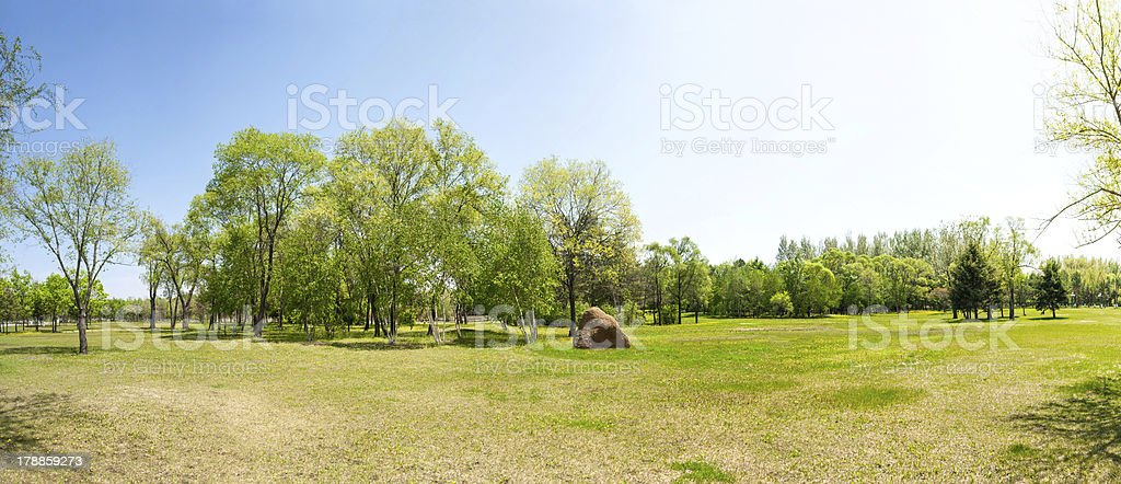 Sun Island Park in early spring stock photo
