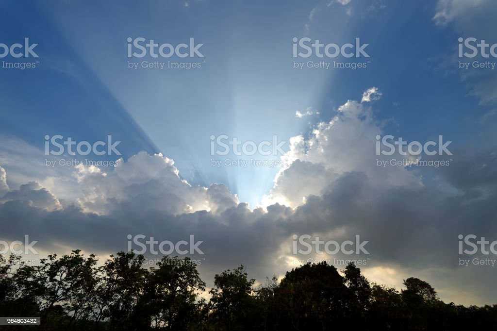 sun lay on cloud royalty-free stock photo