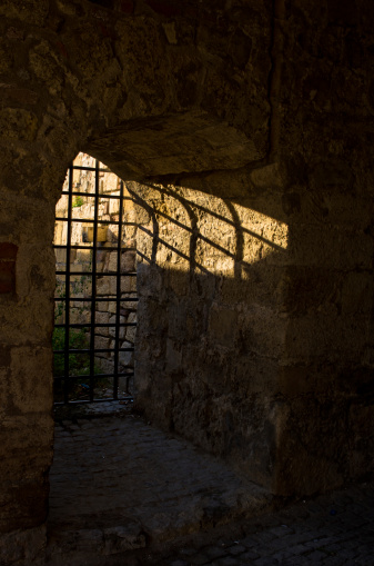 Sun Light Through The Dungeon Bars At Kalemegdan Fortress Belgrade Stock Photo - Download Image Now