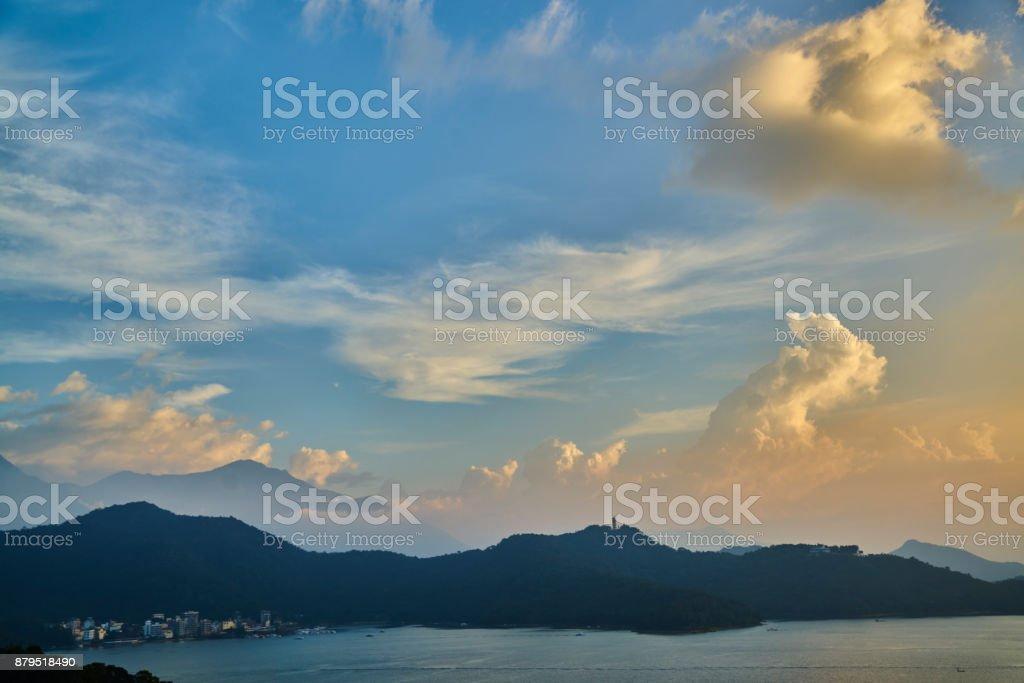 Sun Moon lake at Taiwan stock photo