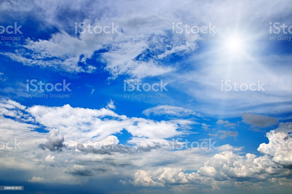 sun on beautiful sky royalty-free stock photo
