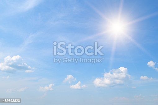 istock sun on blue sky 487653820