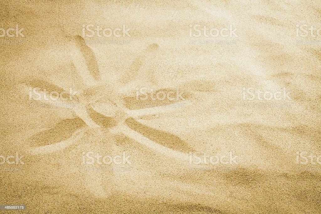 sun on sand royalty-free stock photo