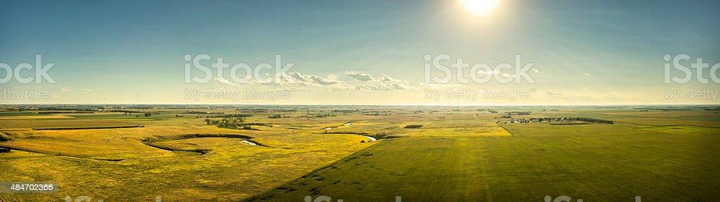 Sun on the South Dakota Plains stock photo