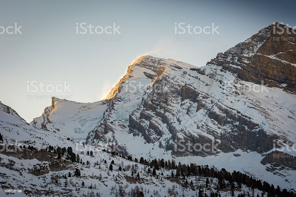 Sun on Windy Mountain - Royalty-free Clear Sky Stock Photo
