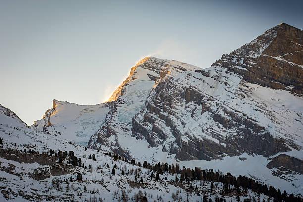 Sun on Windy Mountain stock photo