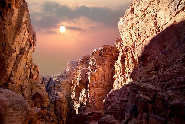 Sonne über dem canyon – Foto