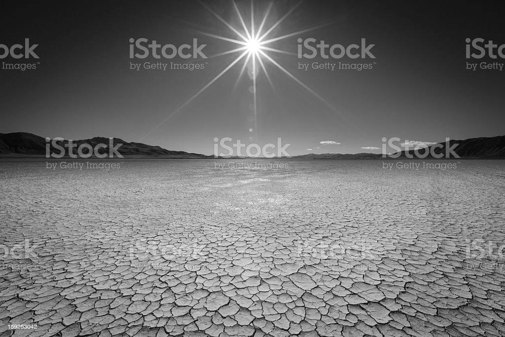 Sun over the Playa stock photo