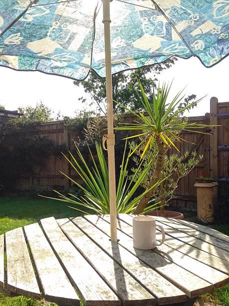 Sun Parasol and Mug stock photo