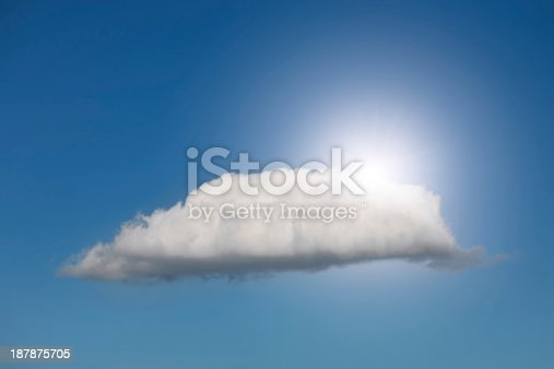 Cloud with the sun behind