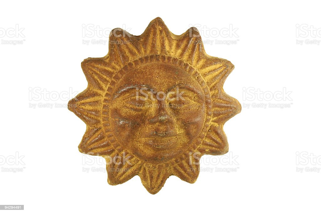 Sun plaque royalty-free stock photo