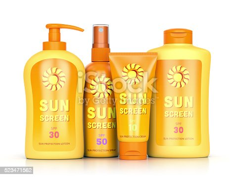 istock Sun protection cream, spray and lotion 523471562