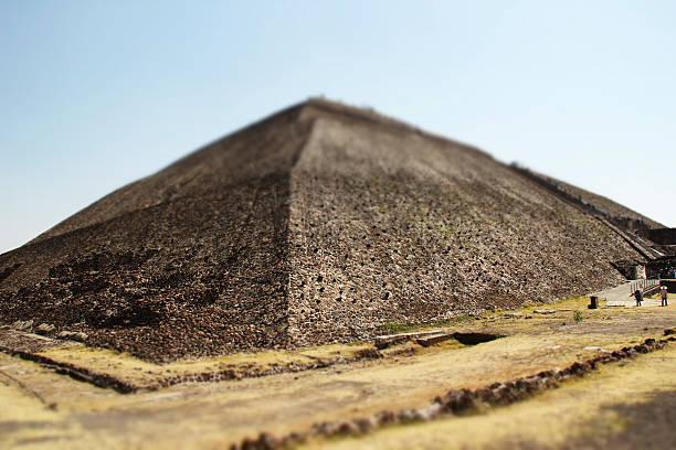 Sun Pyramid at Teotihuacan stock photo