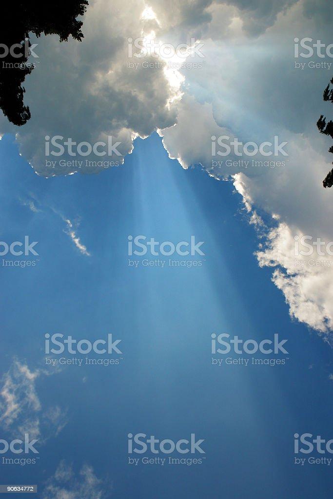 Sun ray stock photo