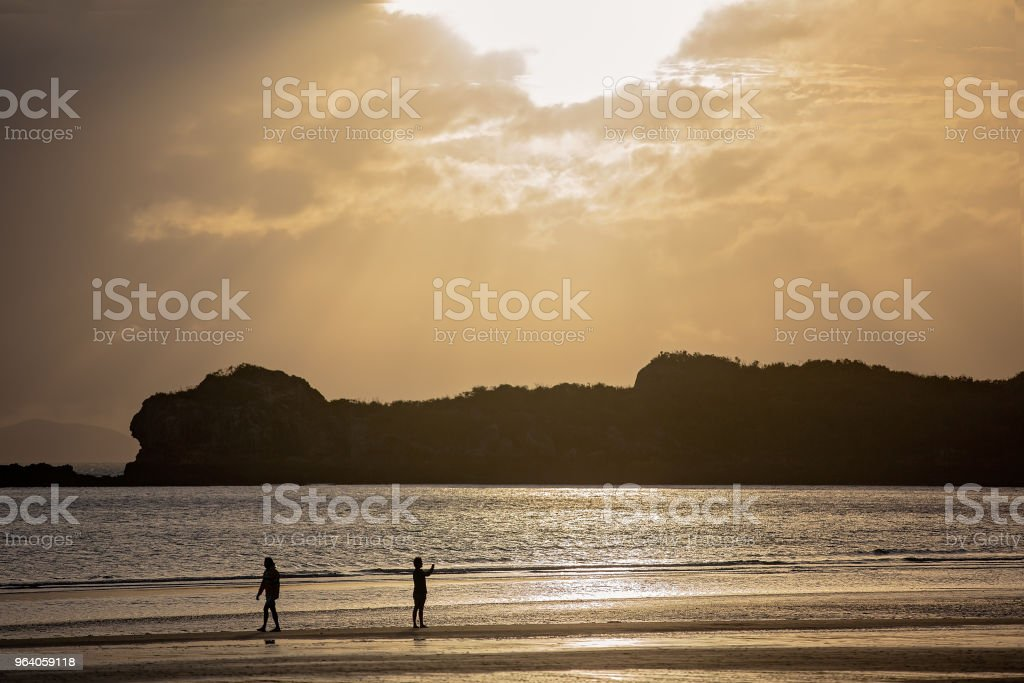 Sun Rays At Sunrise On The Beach - Royalty-free Australia Stock Photo