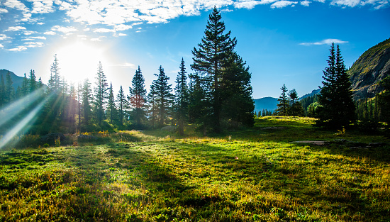 Sun Rays On My Face Colorado Rocky Mountains Stock Photo - Download Image Now