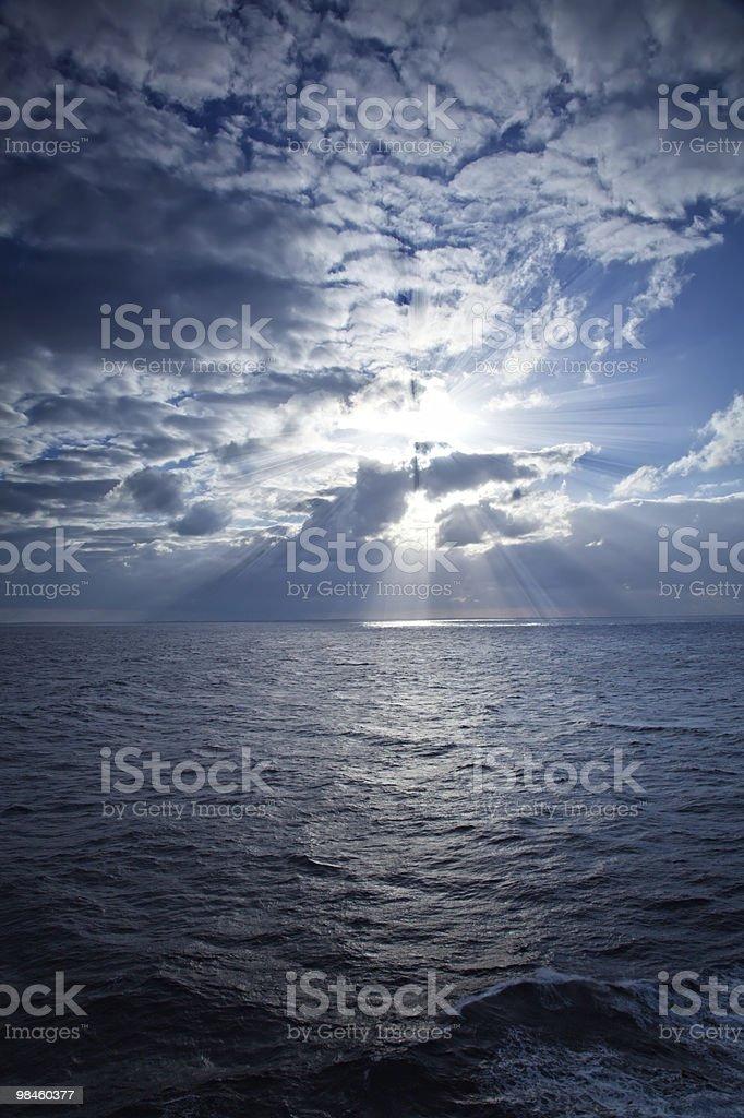 태양 광선 카리브해의 royalty-free 스톡 사진