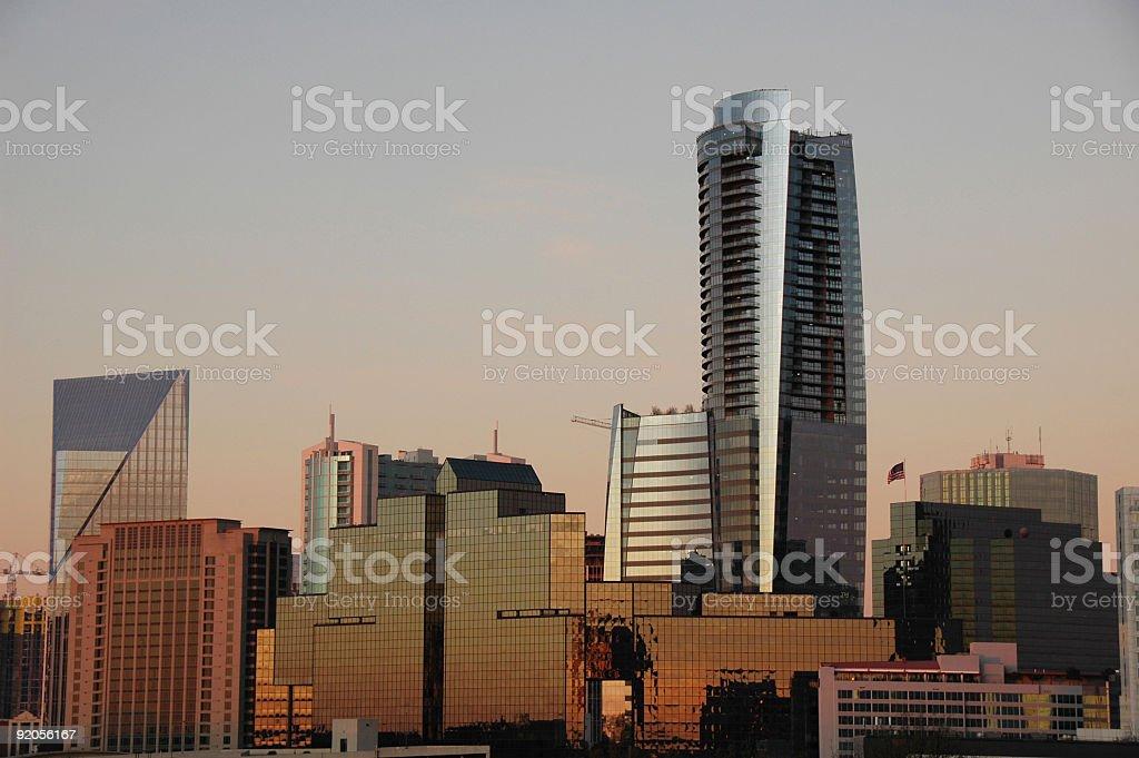 sun rise in Atlanta, Buckhead stock photo
