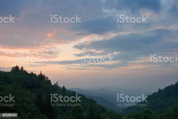 Sun Rise Newfound Gap Smoky Mountain National Park