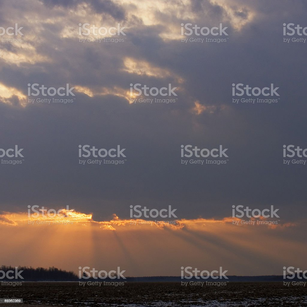 Sole che sorge sopra Chateauguay Valley foto stock royalty-free