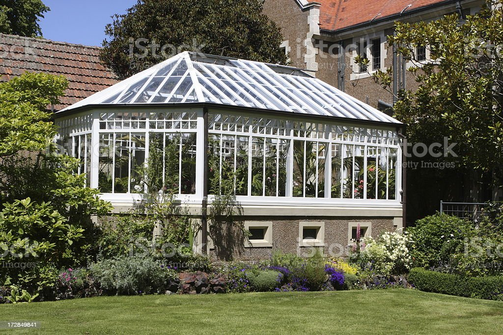 Sun room of an estate home royalty-free stock photo