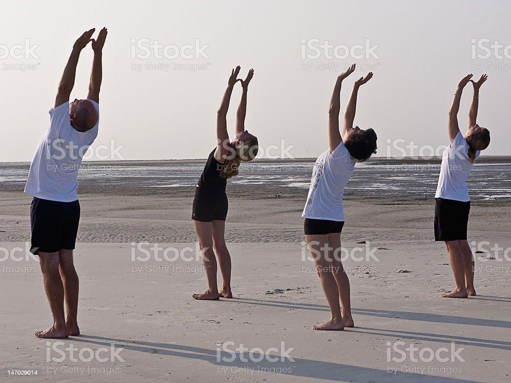 Sun Salutations stock photo
