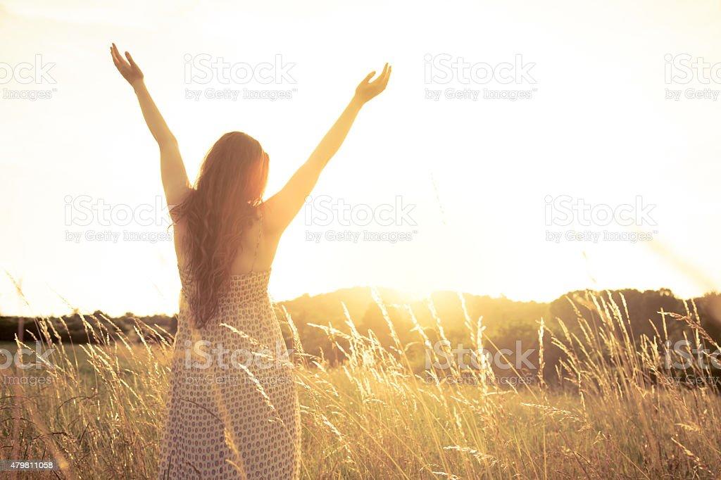 Sun Salute stock photo