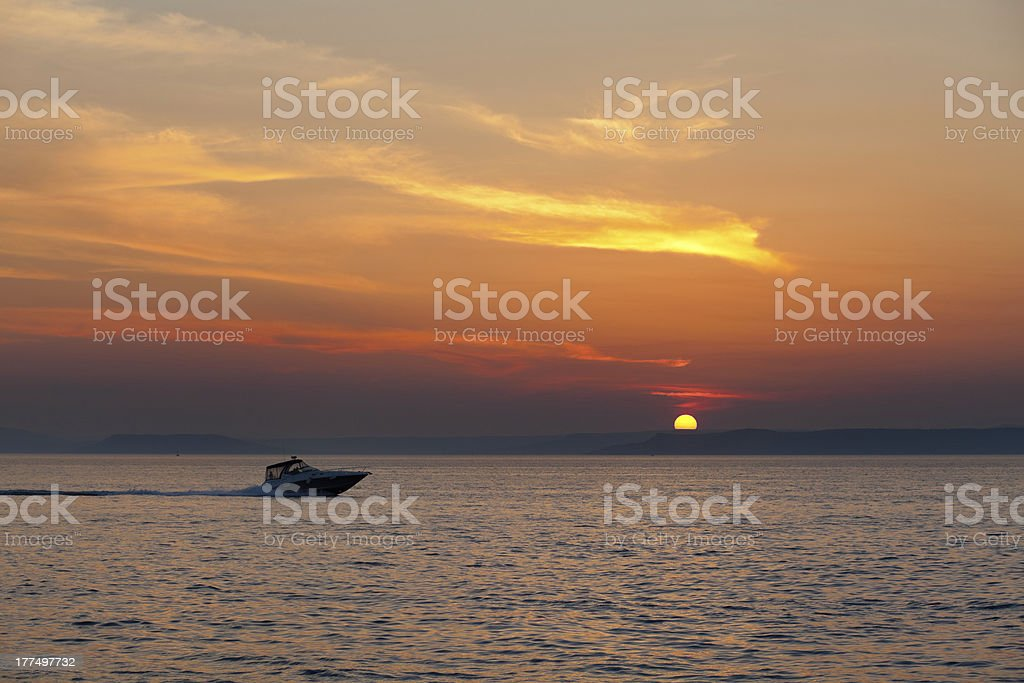 Sun set royalty-free stock photo