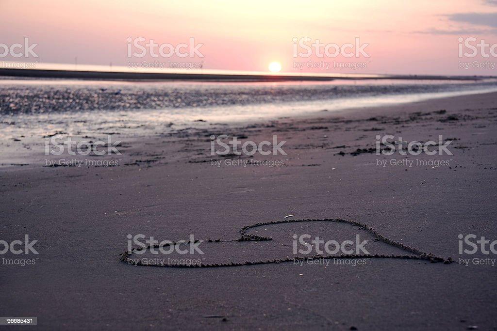 Sun set royalty-free stock photo