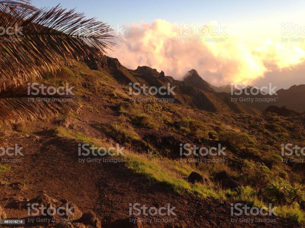 Sun set, teide national park, tenerife royalty-free stock photo