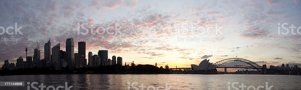 Sun Sets On Sydney royalty-free stock photo