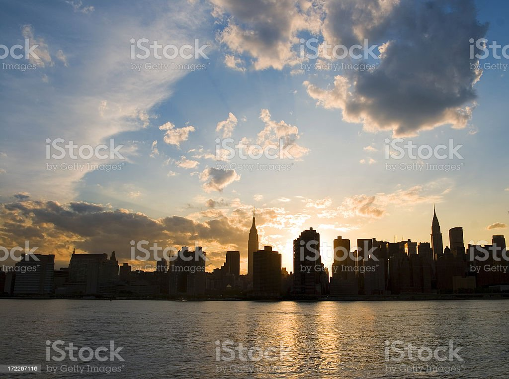 Sun Sets on the City royalty-free stock photo
