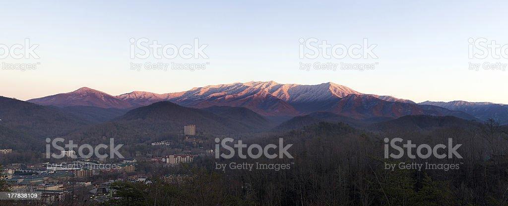 Sun setting on Smoky Mountains royalty-free stock photo
