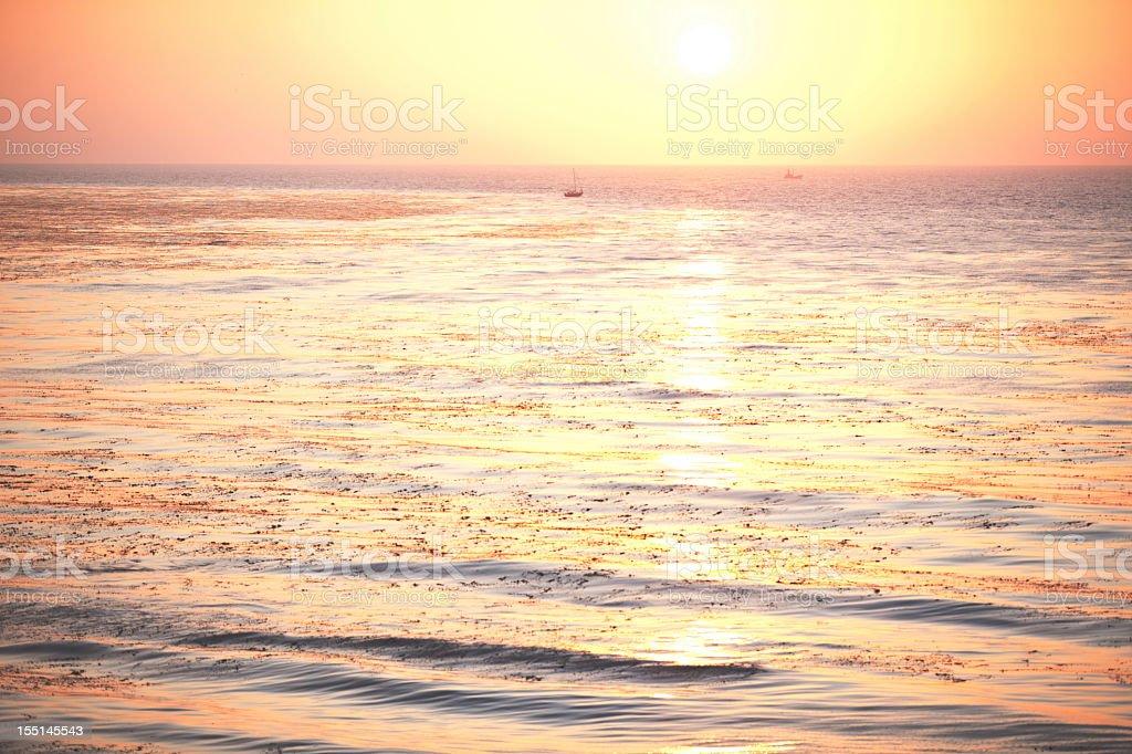 Sun Setting Over Pacific stock photo