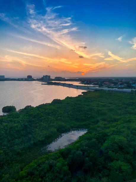 Sonnenuntergang über Tampa Bay, Florida – Foto