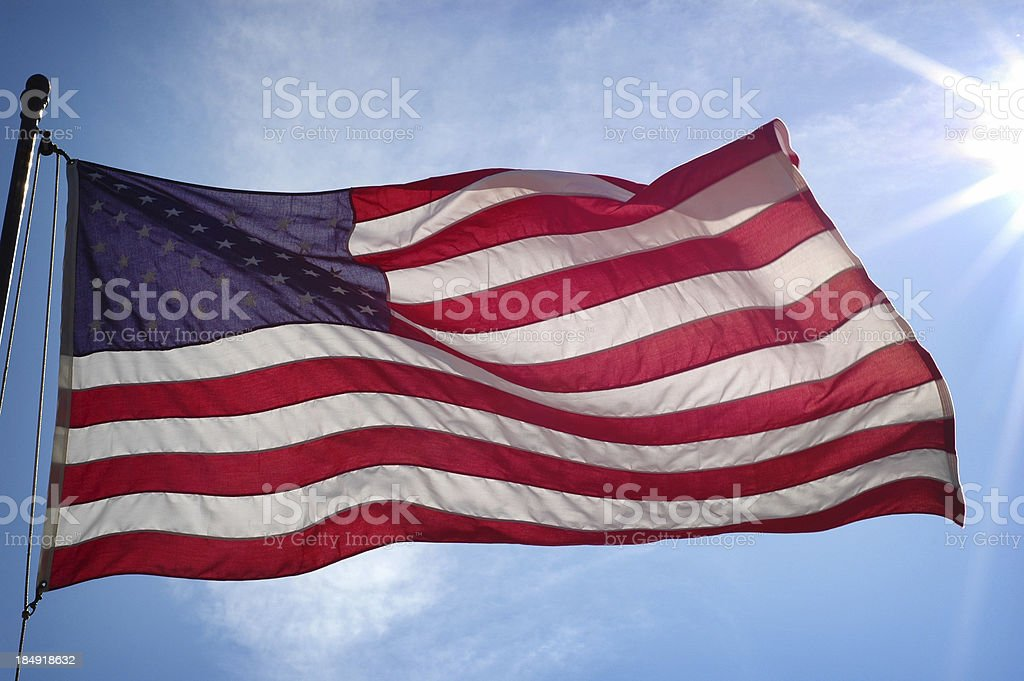Sun Shining on America royalty-free stock photo