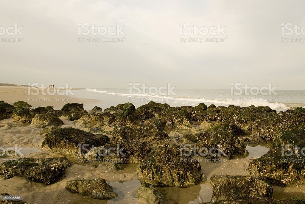 sun shining on the cliffs royalty-free stock photo