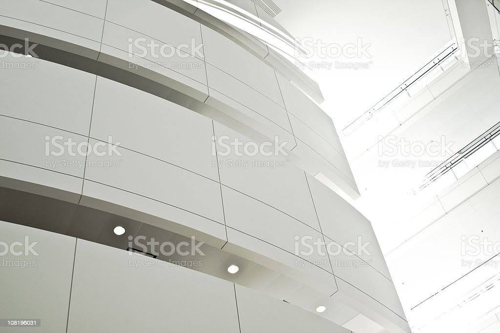 Sun Shining Through Cracks Between Two Office Buildings royalty-free stock photo