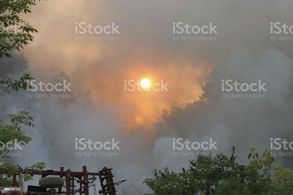 Sonne scheint durch Rauchen – Foto