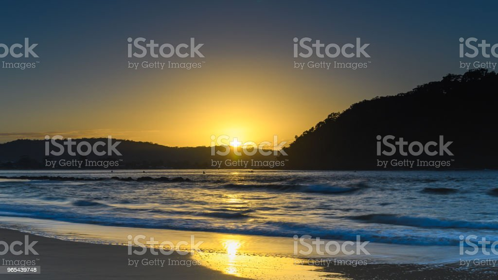 Sun, Silhouettes and Sunrise Seascape royalty-free stock photo