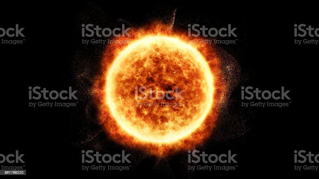 Eyecciones de masa coronales solar llamarada Solar las partículas foto de stock libre de derechos