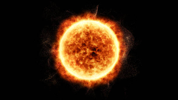 sun solar flare particles coronal mass ejections - flare foto e immagini stock