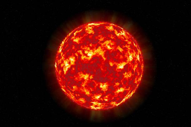 solar sonne oberflächenstruktur - feuerkugel stock-fotos und bilder