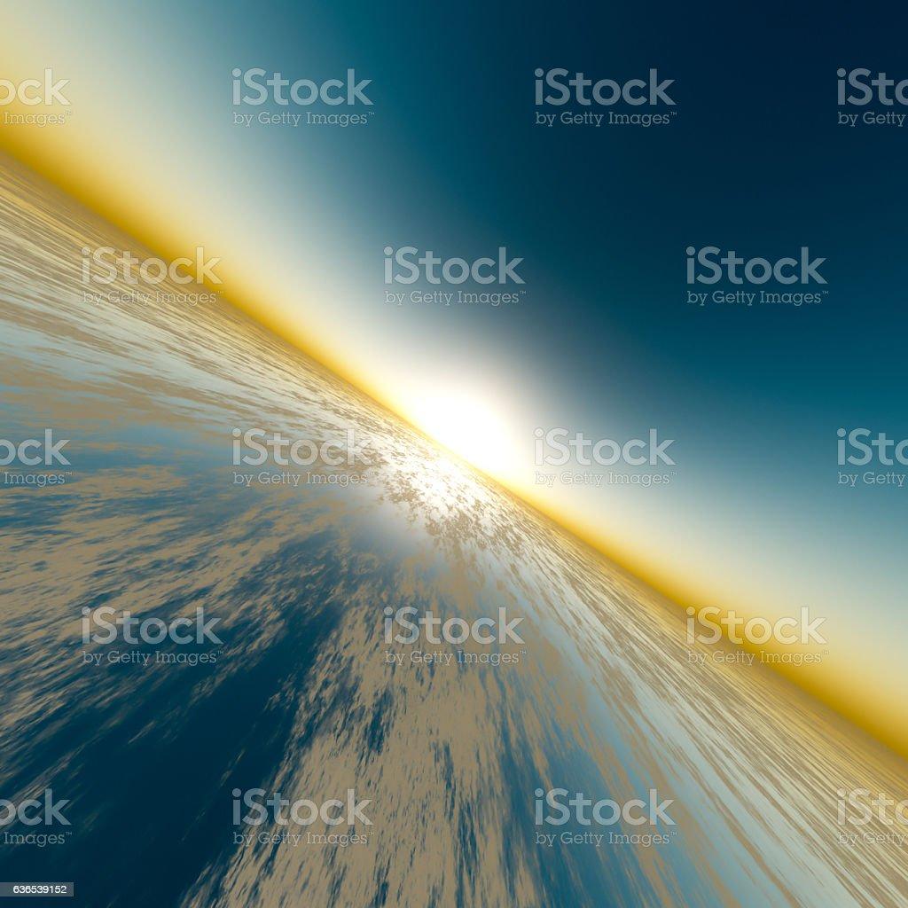 Sun Speed Horizon stock photo