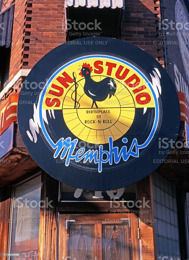 Sun Studio, Memphis. stock photo