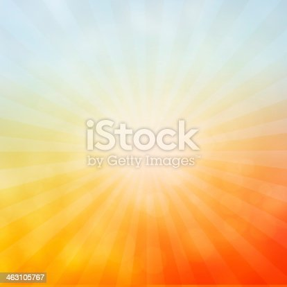 Sun sunburst pattern - abstract background with bokeh lights.