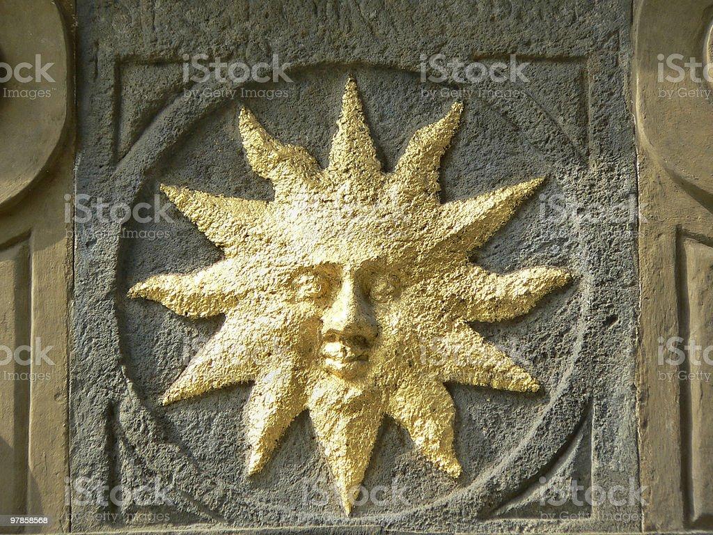 Sun Symbol royalty-free stock photo
