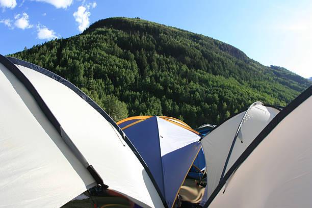 Sun Tarps In Telluride stock photo